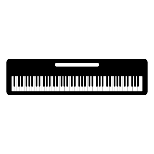 Keyboard musical instrument silhouette