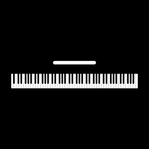 Silueta de instrumento musical de teclado