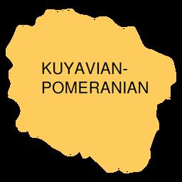 Mapa de voivodato de Pomerania kuyavian