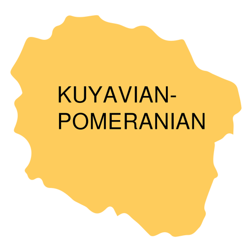 Mapa de voivodato de Pomerania kuyavian Transparent PNG