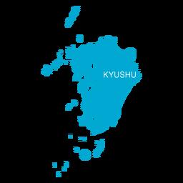 Mapa de la región de Kyushu