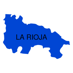 La rioja autonomous community map