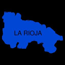 Mapa da comunidade autônoma de La Rioja