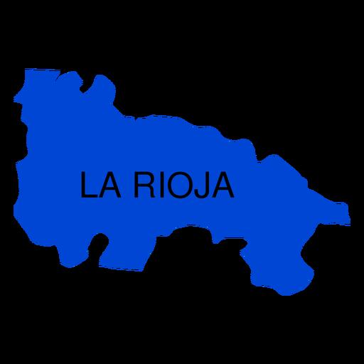 Mapa da comunidade autônoma de La Rioja Transparent PNG