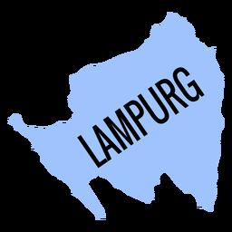 Mapa de la provincia de Lampurg