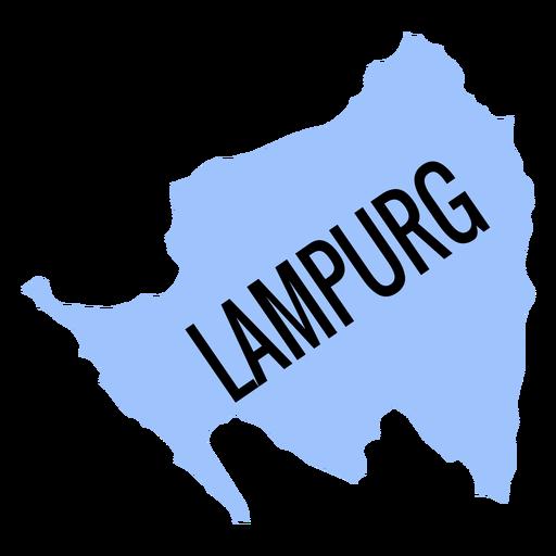 Lampurg province map Transparent PNG