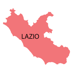 Lazio region map