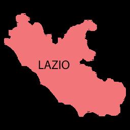 Mapa da região de Lazio