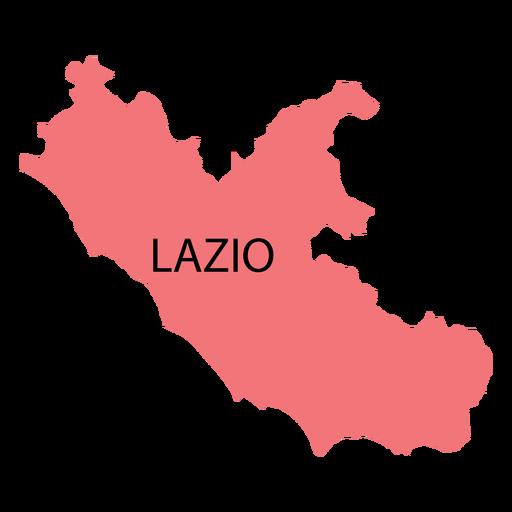 Lazio region map Transparent PNG
