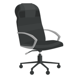Leather office chair clipart