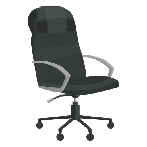 Leather office chair clipart Transparent PNG