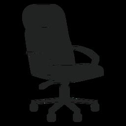 Icono plano de silla de oficina de cuero