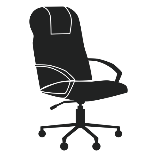 Leather office chair flat icon Transparent PNG