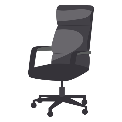 Leather office chair icon Transparent PNG