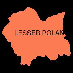 Mapa de las voivodías de Polonia menor