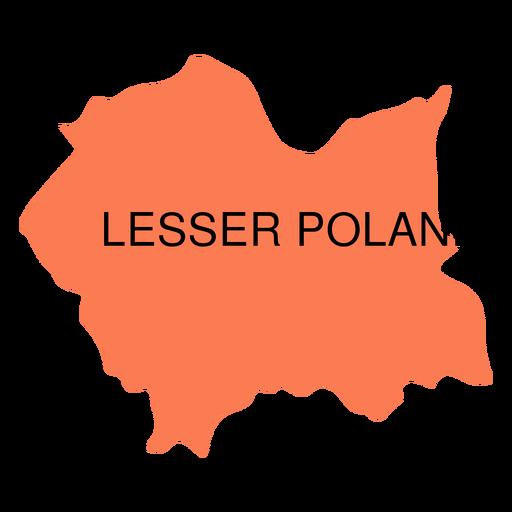 Mapa de las voivodías de Polonia menor Transparent PNG