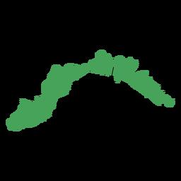 Mapa da região de Liguria