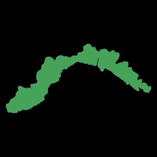 Mapa de la región de Liguria Transparent PNG