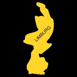 Mapa de la provincia de Limburgo