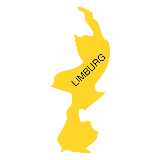 Limburg province map Transparent PNG