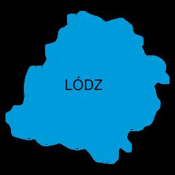 Mapa de voivodato de Lodz