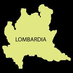 Mapa da região da Lombardia