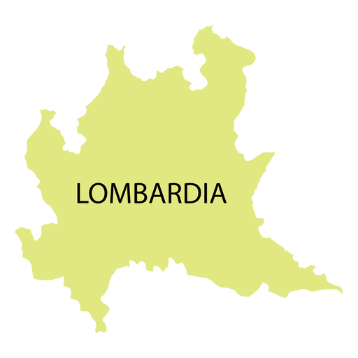 Lombardy region map Transparent PNG
