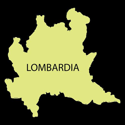 Mapa da região da Lombardia Transparent PNG