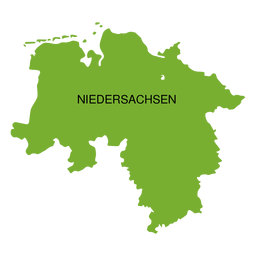Mapa del estado de Baja Sajonia