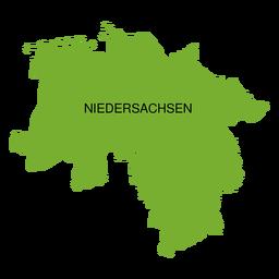 Mapa do estado da Baixa Saxônia