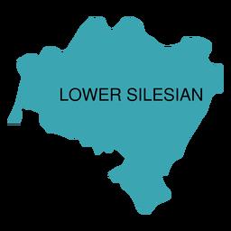 Mapa de voivodato de Baja Silesia