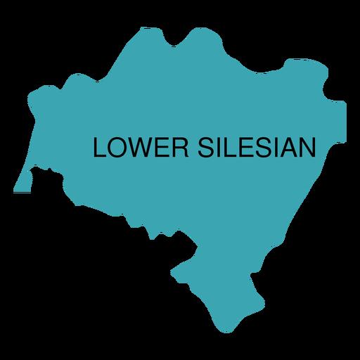 Mapa de voivodato de Baja Silesia Transparent PNG