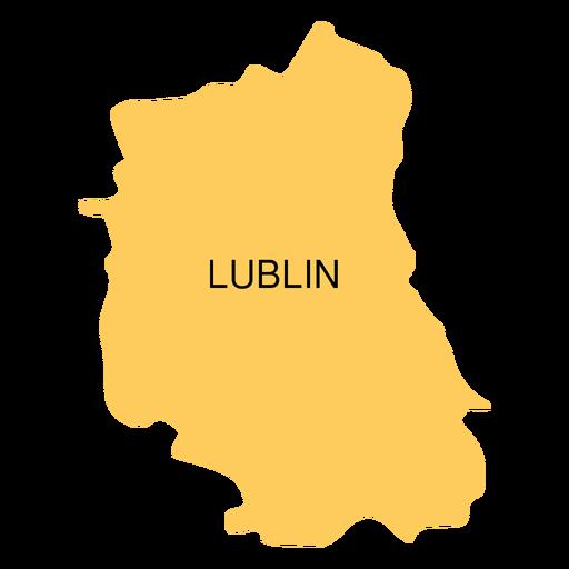 Mapa de voivodato de Lublin Transparent PNG