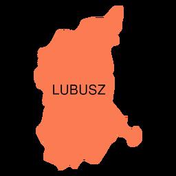 Mapa de voivodato de Lubusz