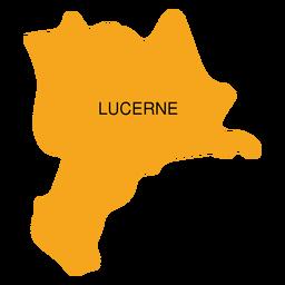 Mapa del cantón de Lucerna