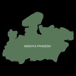 Madhya pradesh state map