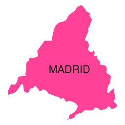Madrid autonomous community map