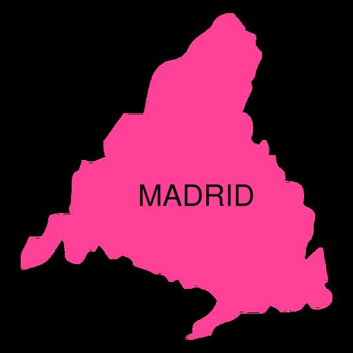 Mapa da Comunidade Autónoma de Madrid Transparent PNG