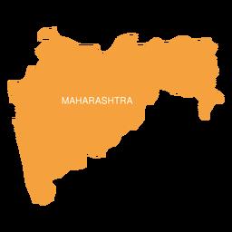 Mapa do estado de Maharashtra