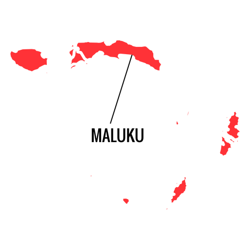 Maluku province map Transparent PNG