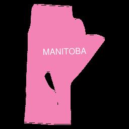 Mapa da província de Manitoba