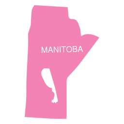 Mapa de la provincia de manitoba