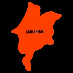 Maranhao state map