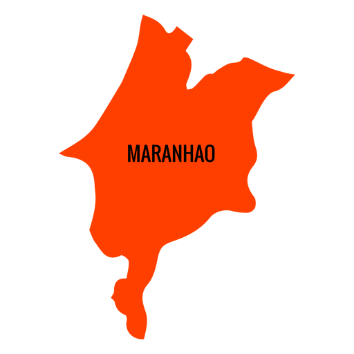 Maranhao state map Transparent PNG