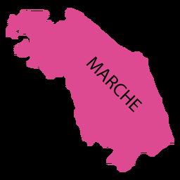Mapa da região dos marços