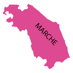 Marches region map