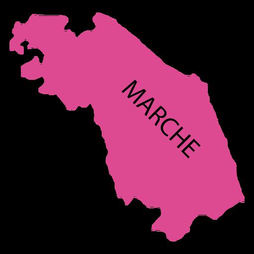 Marches region map Transparent PNG