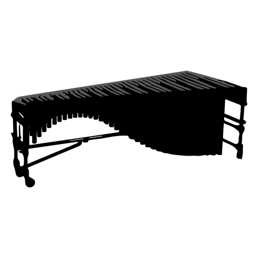 Marimba musical instrument silhouette Transparent PNG