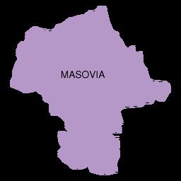 Mapa de voivodato de Mazovia
