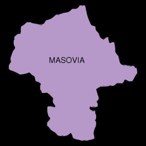Mapa de voivodato de Mazovia Transparent PNG